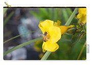Yellow Bell Flower With Honeybee Carry-all Pouch