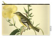 Yellow-bellied Flycatcher Carry-all Pouch by Philip Ralley