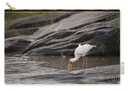 Yellow-billed Stork Fishing In River Carry-all Pouch