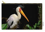 Yellow Billed Stork Peers At Camera Carry-all Pouch
