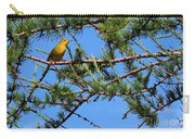 Yellow Bird In A Juniper Tree Carry-all Pouch