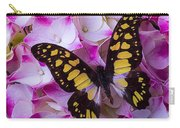 Yellow Black Butterfly On Hydrangea Carry-all Pouch