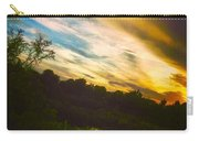 Yellow Blue And Green Carry-all Pouch by K Simmons Luna