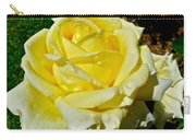 Yellow Bob Berry Rose Carry-all Pouch