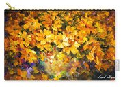 Yellow Bouquet - Palette Knife Oil Painting On Canvas By Leonid Afremov Carry-all Pouch