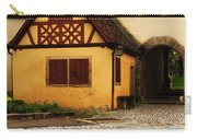 Yellow Building And Wall In Rothenburg Germany Carry-all Pouch