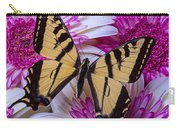 Yellow Butterfly Resting Carry-all Pouch