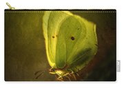 Yellow Butterfly Sitting On The Moss  Carry-all Pouch