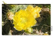 Yellow Cactus Blooms And Buds Carry-all Pouch