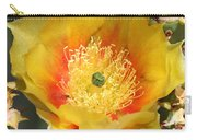 Yellow Cactus Flower Square Carry-all Pouch
