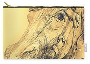 Yellow Carousel Horse Carry-all Pouch