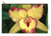Yellow Cattleya With Red Ruffles Carry-all Pouch