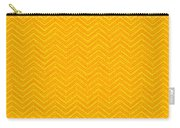 Yellow Chevron Waves Carry-all Pouch
