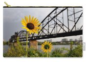 Yellow Cone Flowers And Bridge Carry-all Pouch