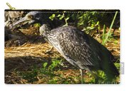 Yellow-crowned Night Heron Eating A Fiddler Crab Dinner Carry-all Pouch
