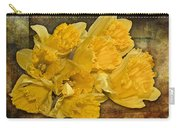 Yellow Daffodils And Texture Carry-all Pouch
