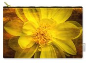 Yellow Dahlia Under Water Carry-all Pouch
