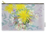 Yellow Dahlias And Peruvian Lilies Carry-all Pouch