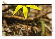 Yellow Dogtooth Trout Lilly Carry-all Pouch