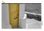 Yellow Door Of Oia Carry-all Pouch