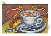 Yellow Dutch Bicycle With Cappuccino And Biscotti Carry-all Pouch
