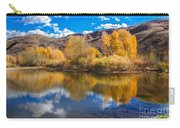 Yellow Fall Reflections Carry-all Pouch
