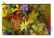 Yellow Fantasy Flower Garden Carry-all Pouch