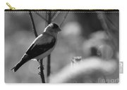 Yellow Finch B-w Carry-all Pouch