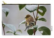 Goldfinch On Branch Carry-all Pouch