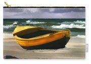 Yellow Fishing Dory Before The Storm Carry-all Pouch