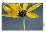 Yellow Flower Against A Stormy Sky Carry-all Pouch