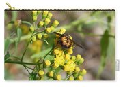 Yellow Flower Bee Carry-all Pouch