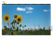 Yellow Flower On Blue Sky Carry-all Pouch