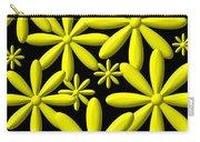 Yellow Flower Power 3d Digital Art Carry-all Pouch