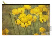 Yellow Flowers With Texture Carry-all Pouch