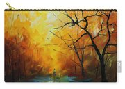 Yellow Fog 2 - Palette Knife Oil Painting On Canvas By Leonid Afremov Carry-all Pouch
