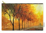 Yellow Fog - Palette Knife Oil Painting On Canvas By Leonid Afremov Carry-all Pouch