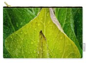 Yellow Green Skunk Cabbage Square Carry-all Pouch