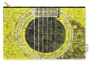 Yellow Guitar - Digital Painting - Music Carry-all Pouch