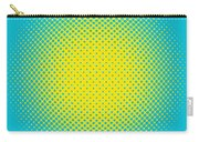Optical Illusion - Yellow On Aqua Carry-all Pouch