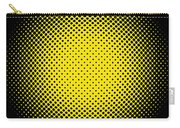 Optical Illusion - Yellow On Black Carry-all Pouch