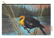 Yellow Headed Black Bird Carry-all Pouch