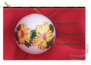 Yellow Hibiscus Christmas Bulb Carry-all Pouch