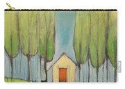 Yellow House In Woods Carry-all Pouch