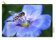 Blue Flax Flower Carry-all Pouch