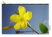 Yellow Jasmine Flower And Bud Against Blue Sky Carry-all Pouch