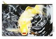Yellow Koi - Black And White Art Carry-all Pouch