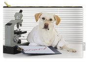 Yellow Lab In Lab Coat Carry-all Pouch