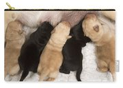 Yellow Labrador Suckling Puppies Carry-all Pouch