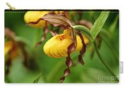 Yellow Lady Slipper Carry-all Pouch